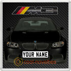 BMW M3 BRAND-NEW COASTER / BEER MAT - PERSONALISED - 8 COLOURS TO CHOOSE FROM