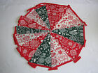 Hand Made 10ft /13 Flag Christmas Fabric Bunting Garland Merry Christmas