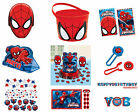Spiderman Birthday Party Tableware 2015 Range Decoration Items