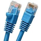 40 Ft Cat 5e Cat5e RJ45 Ethernet LAN Network Patch Cable Booted Snagless Blue