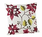 Florentine Spice Poinsettia Down Filled Decorative Throw Pillow, NWT