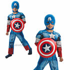 Boys Deluxe Captain America Avengers Superhero Fancy Dress Costume Kids Outfit