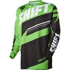 MENS GUYS SHIFT RACING MX ATV RIDING ASSAULT GREEN JERSEY SHIRT OFFROAD
