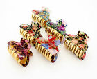 SMALL PRINTED VINTAGE HAIR CLIP CLAW GRIP CLAW CLAMP BUTTERFLY TORT CLIP CLAMP