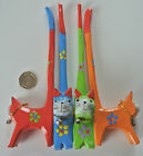 Wooden Tall Tail Cat Ring Holders - Fair Trade - Pack of 4 Tall Tail Cats