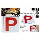 2pce Red P Plates for QLD Drivers, Magnetic