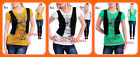 B21 New Womens Work Office Casual Vest Blouse Shirt Summer Blouse Tops 12 14 16