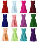 New Short/Lace Cocktail Party Bridesmaid Ball Evening Prom Dresses Size 6-22