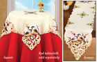 Collections Etc Embroidered Chickadee Table Linens