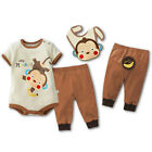 3 Piece Infant Summer Bodysuits / Pants / Bibs Silly Monkey 0~18months (F2032)