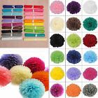 "19 Colors Wedding Party Home Birthday Tissue Paper Flower Balls Décor 8"" 10"" 14"""