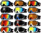 XLINE R8056 Womens Goggles SKI SNOWBOARD Snow Mirrored Medium UV Double Youth