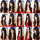 BLACK PLUM Wig Natural Long Curly Straight Wavy Synthetic Wig Women Party UK