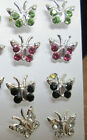 1 Pair Tiny Sterling Silver Butterfly Earrings