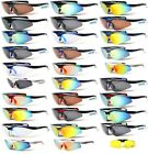 XLINE 601 + Yellow Lens Mirrored Polarized 1.1mm Sports Sunglasses Bad Eye Night