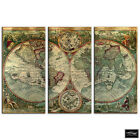 Old World Atlas Latin   Maps Flags BOX FRAMED CANVAS ART Picture HDR 280gsm