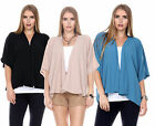 Women Gypsy Bohemian Tunic Kimono Sleeve Casual Long Cardigan Blouse Shirt Tops