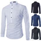 Mens Stylish Casual Long Sleeve Shirts Dress Shirts Polka Dot Korean Fashion