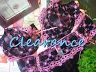 Black Hot Pink Embroidery Wired Non-Padded Bra Sets Clearance 50% Off AU 14B-16C