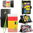 For Nokia Lumia 1520 PU Leather Flip PREMIUM Wallet Skin Case ID Card Slot Cover