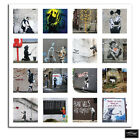 HD Collage   Banksy Street BOX FRAMED CANVAS ART Picture HDR 280gsm