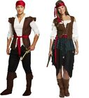 Adult Pirate Caribbean Man/Women Party Fancy Dress Costume Stag Party One Size