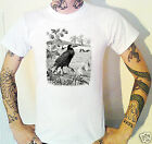 Crow T-Shirt Victorian etching Rook Raven Victoriana