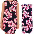 Womens Sleeveless Floral Print Baggy Top Oversize Tunic Casual Short Dress