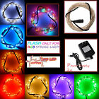 32FT Colorful 100 LED String Fairy Lights Silver Wire for Party Wedding Lamp 12V
