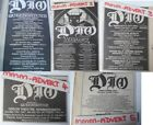 < DIO / QUEENSRYCHE - UK TOUR DATES 1984 original magazine advert small poster