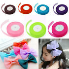 "3/8""50 Yard Cut Length Double Sided Satin Ribbon Wedding Party Craft DIY Hairbow"