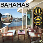 Bahamas 4 Piece Wooden Modular Eucalyptus Lounge Outdoor Sofa Set Furniture