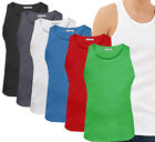 Mens Muscle Vest Brave Soul New Ribbed Gym New Jersey Crew Tank Top Singlet Tee