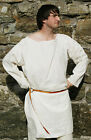 Medieval-Re enactment-Larp-Cosplay-LONG SLEEVED LONG TUNIC Natural Sizes Sml-4XL