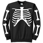 Felpa nera uomo girocollo Scheletro, Skeleton, Halloween costume idea!