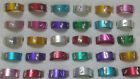 30 Fashion Wholesale Jewelry lots Bulk Mixed Color Aluminum Rings