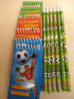 Football Themed Notebooks and Pencils Pick your amount Great Party Bag Fillers