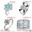925 Sterling Silver Multi-Style Fashion Rings for Men and Women
