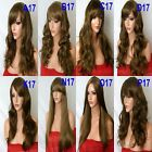 LIGHT BROWN Long Wavy Straight Fancy Dress FULL LADIES HAIR WIG Heat resist #12