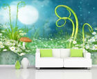 3D Moon Firefly Dreamy Elf Full Wall Mural Photo Wallpaper Print Paper Home Deco