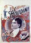 Poster Harry Houdini, king of cards