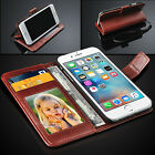 SAMSUNG S3 MINI - Genuine Real Lauxary Leather Antique Wallet Flip Case Cover