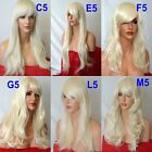 PALE BLONDE Curly FULL LADIES FASHION HAIR WIG Fancy dress Halloween Wig #613L