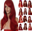 INTENSE RED Long Wavy Straight Halloween Fancy dress LADIES FASHION HAIR WIG