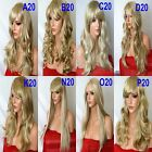 SANDY BLONDE Long Wavy Straight PArty FULL WOMEN LADIES FASHION HAIR WIG