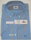 "LACOSTE MEN'S SHORT SLEEVE REGULAR FIT COTTON SHIRT - 38 / 15"" COLLAR"