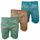 Soul Star Mst-Dominican Mens Aztec Denim Roll Up Casual Chino Shorts RRP £29.99