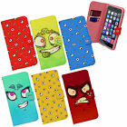 Googly Eyes Fun Crazy Face Cartoon Emoji Emoticon Wallet Flip Case Cover