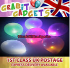 10 x LED BALLOON LIGHTS IN WHITE, PINK, RED, BLUE AND GOLD FOR PARTYS / WEDDINGS