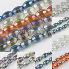 10/20PCS Olive Shape Smooth Crystal Spacer Loose Beads 15X10mm Jewelry Findings
